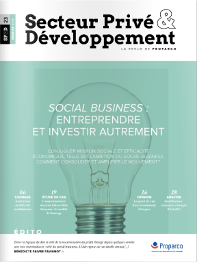 Proparco n°23 - Social Business